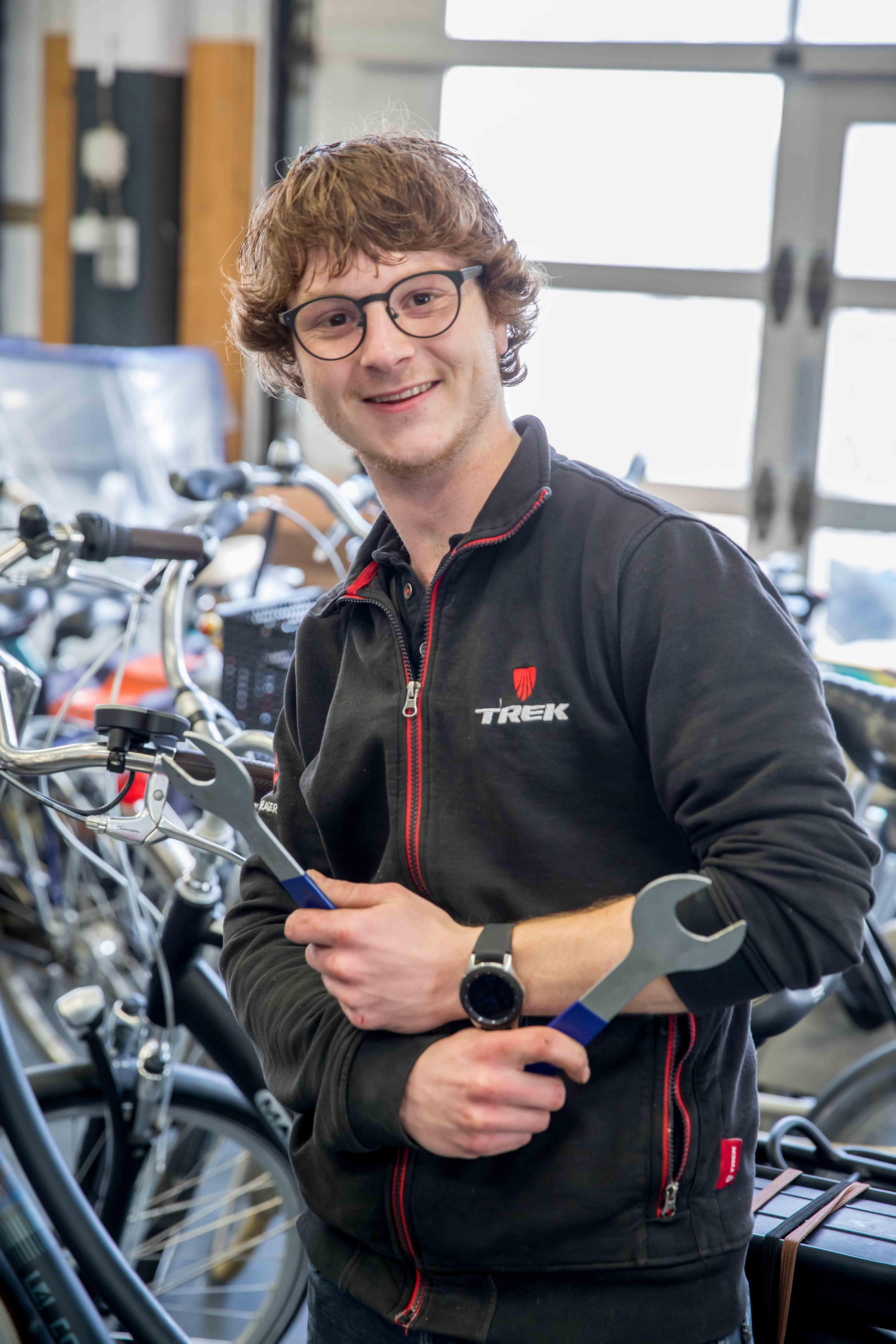 Thomas monteur bij van Dijk Bikes