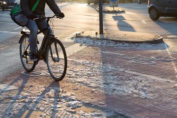Winter fietser